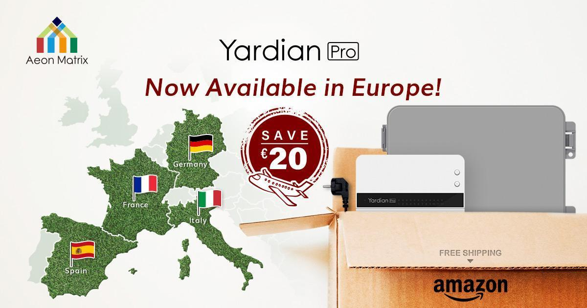 Yardian Pro Smart Sprinkler Controller is available in Europe now